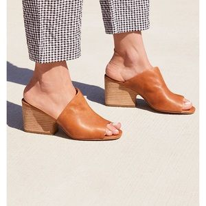 Whisky Leather Mules